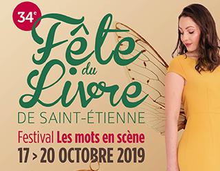 affiche du festival du livre de Saint-Etienne