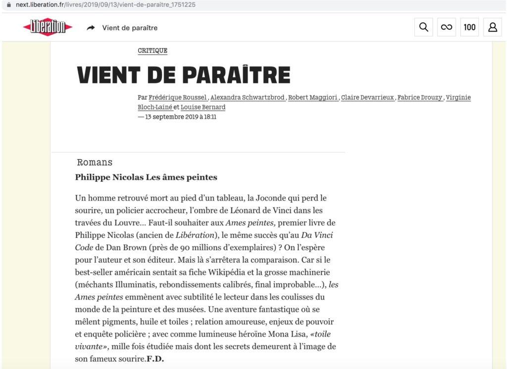 Article paru dans le journal Libération