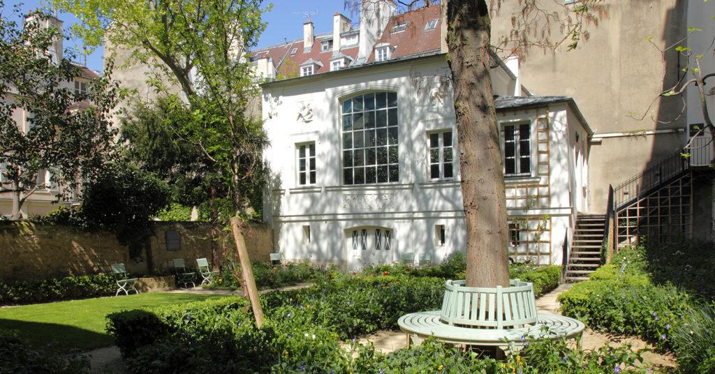 Vue côté jardin du Musée Delacroix à Paris